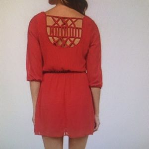 Red shift dress, size XL